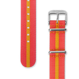 Nato Strap 18mm- Peach & Orange Strips by Decowrist.com