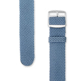 Perlon Strap Steel Blue Color  20mm by decowrist.com