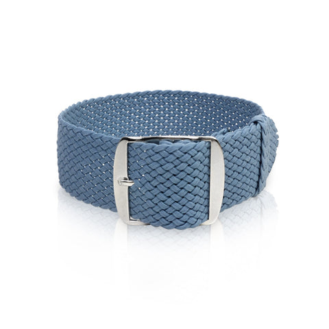 Perlon Strap Steel Blue Color  22mm by decowrist.com