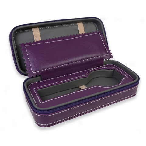 Personalized Portable Watch Case for 1 Watch - Purple