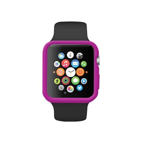 Purple Ultra Slim Soft Silicon Snap On Case for Apple Watch / Apple Watch Sport ( 42mm / 38mm)