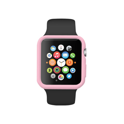 Soft Pink Ultra Slim Soft Silicon Snap On Case for Apple Watch / Apple Watch Sport ( 42mm / 38mm)