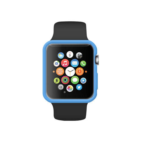 Matt Blue Ultra Slim Soft Silicon Snap On Case for Apple Watch / Apple Watch Sport ( 42mm / 38mm)