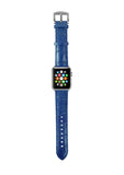 Apple Watch / Sport / Edition 38 42 mm Blue Leather Band Strap