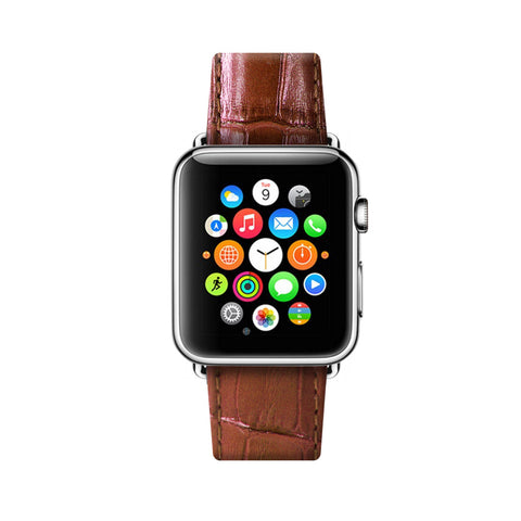 Apple Watch / Sport / Edition 38 42 mm Brown Leather Band Strap