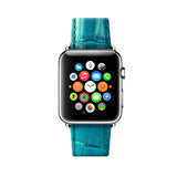 Apple Watch / Sport / Edition 38 42 mm Cyan Leather Band Strap