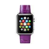 Apple Watch / Sport / Edition 38 42 mm Purple Leather Band Strap