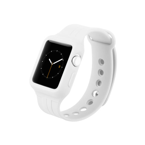 White Sport Watch Band for Apple WATCH 38 mm / 40 mm &  42 mm / 44 mm by DecoWrist.com