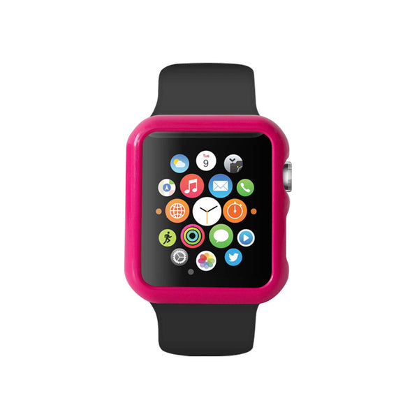 Hot Pink Ultra Slim Hard Snap On Case for Apple Watch / Apple Watch Sport ( 42mm / 38mm)