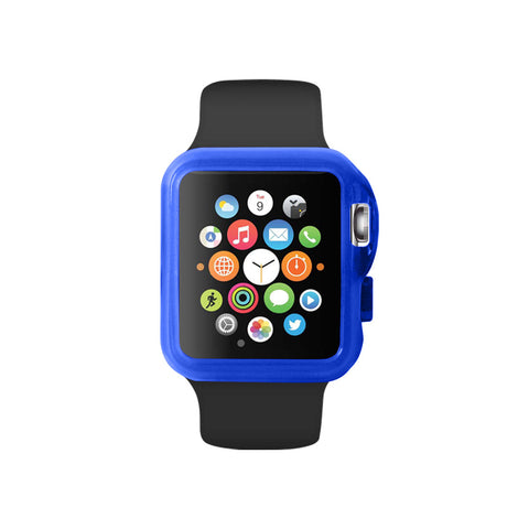 Transparency Blue Ultra Slim Soft Silicon Snap On Case for Apple Watch / Apple Watch Sport ( 42mm / 38mm)