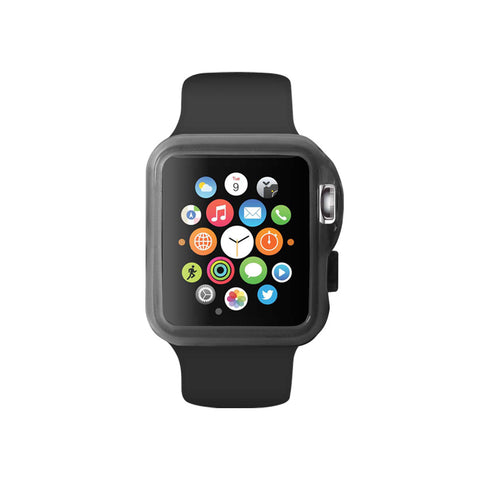 Transparency Black Ultra Slim Soft Silicon Snap On Case for Apple Watch / Apple Watch Sport ( 42mm / 38mm)