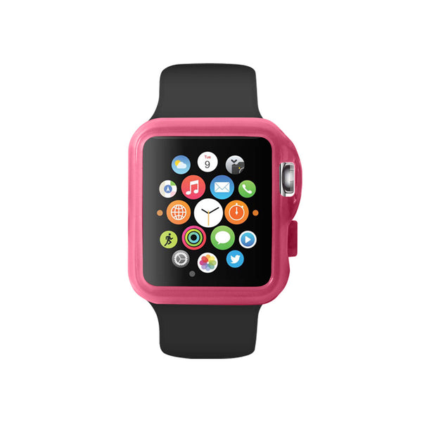 Transparency Pink Ultra Slim Soft Silicon Snap On Case for Apple Watch / Apple Watch Sport ( 42mm / 38mm)