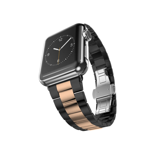Space Grey with Rose Gold Stainless Steel Strap Band Bracelet for Apple Watch / Apple Watch Sport / Apple Watch Edition