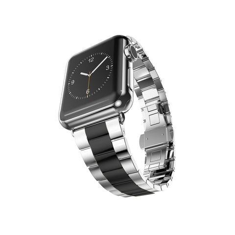 Silver with Space Grey Stainless Steel Strap Band Bracelet for Apple Watch / Apple Watch Sport / Apple Watch Edition