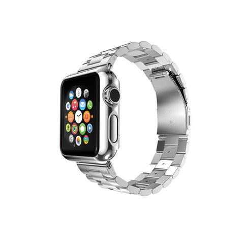 Silver Stainless Steel Strap Classic Adapter Bucklet Watch Band for Apple Watch / Apple Watch Sport / Apple Watch Edition