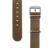 Nato Strap 18mm 20mm 22mm - Light Brown Color by Decowrist.com
