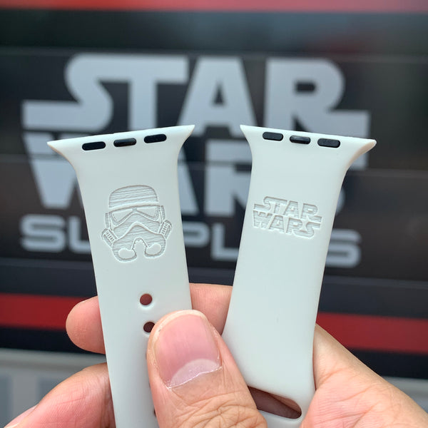 Star Wars White Stormtrooper inspired Laser Engraved Apple Watch Band