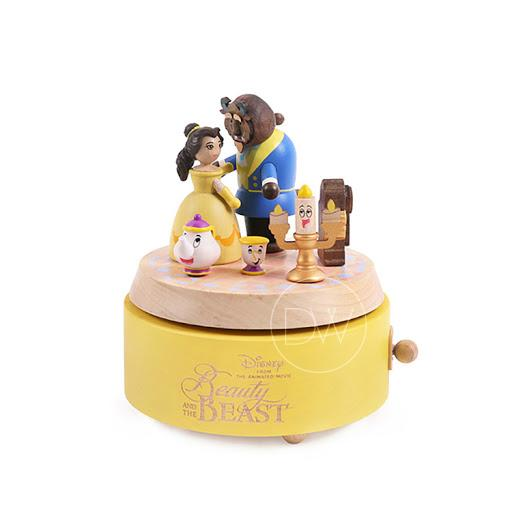 Disney Princess Belle Wooden Music Box Beauty and the Beast - Merry Go Around