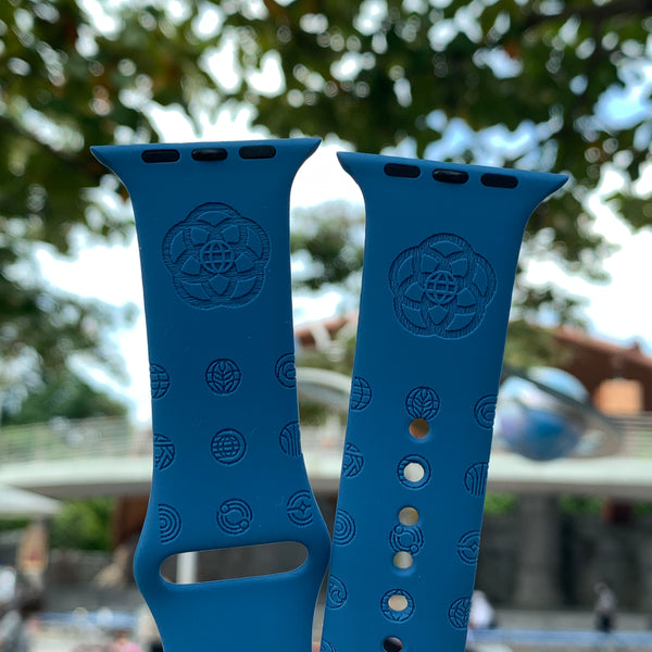 Disney Theme Park EPCOT inspired Laser Engraved Apple Watch Band