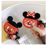 Mickey and Minnie quick sand AirPods case with holding ring  [AP001]
