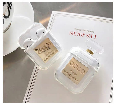 Perfume Bottle clear AirPods case  [AP005]
