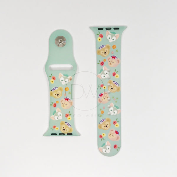 Authentic Disneyland Disney Duffy and Friends Green 42mm Apple Watch Band