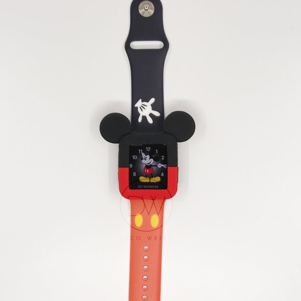 wholesale dealer 9f731 348fb Authentic Disneyland Disney Mickey Mouse Red 42mm Apple Watch Case
