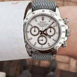 Perlon Strap Grey Color 20mm by decowrist.com