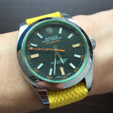 Perlon Strap | Yellow - 20mm Straps with Rolex - Decowrist