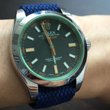 Perlon Strap Blue Color 20mm by decowrist.com