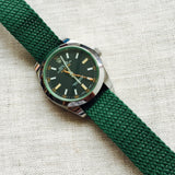 Perlon Strap Green Color 20mm by decowrist.com