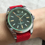 Perlon Strap Red Color 20mm by decowrist.com