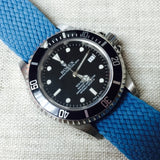 Perlon Strap Light Blue Color 20mm by decowrist.com
