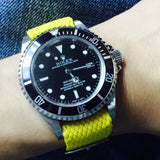 Perlon Strap Yellow Color 20mm by decowrist.com