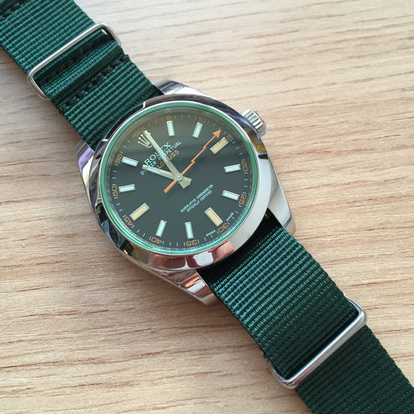 Nato Strap Green Color Watch band 18 / 20 / 22 mm – decowrist