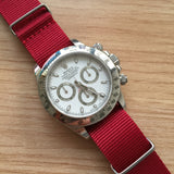 Nato Strap Red Color 18mm 20mm 22mm by Decowrist.com
