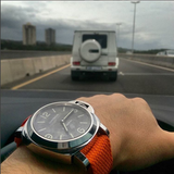 Perlon Strap Orange Color 24 mm by decowrist.com