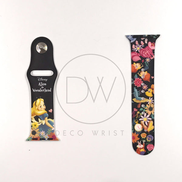 Authentic Disneyland Disney Alice in Wonderland 38mm / 40mm Apple Watch Band