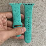 Animal Crossing inspired Laser Engraved Apple Watch Band