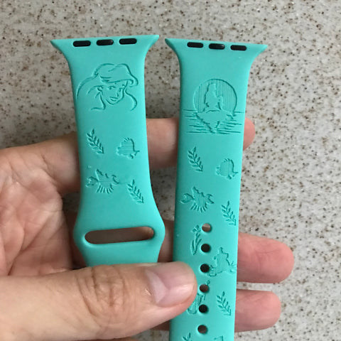 The Little Mermaid Princess Ariel inspired Laser Engraved Apple Watch Band