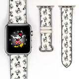 Disney Mickey Mouse Inspired 38 40 42 44 mm Soft Silicon Sport Strap Apple Watch Band Vintage steamboat willie Style -v755