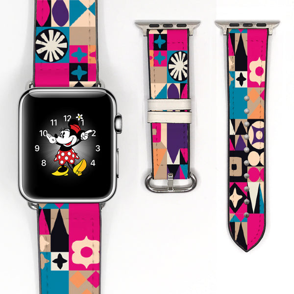 Disney Theme Park Attractions It a small world Inspired 38 40 42 44 mm Soft Silicon Sport Strap Apple Watch Band -v606