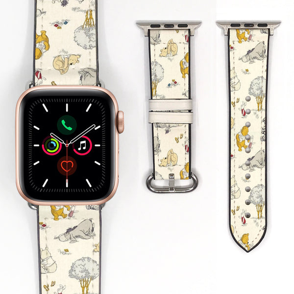 Disney Winnie the pooh Inspired 38 40 42 44 mm Soft Silicon Sport Strap Apple Watch Band -v883