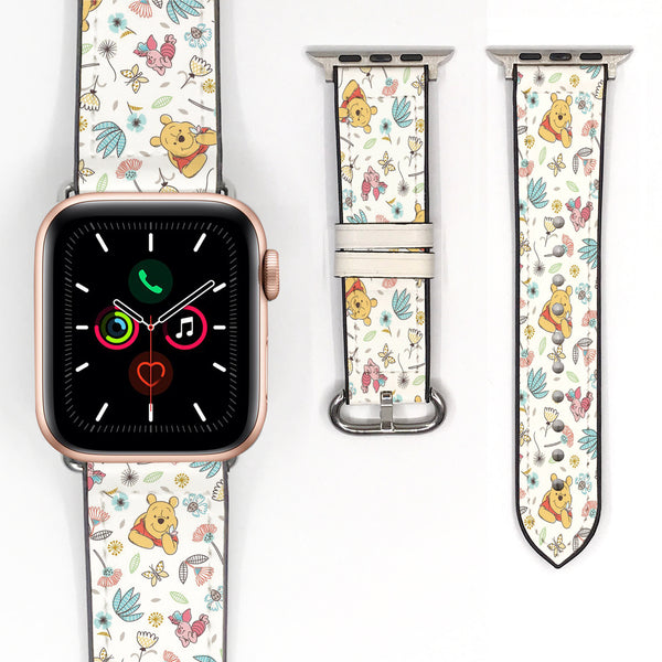 Disney Winnie the pooh Inspired 38 40 42 44 mm Soft Silicon Sport Strap Apple Watch Band -v884