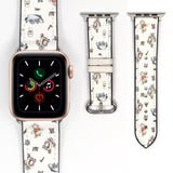 Disney Winnie the pooh Inspired 38 40 42 44 mm Soft Silicon Sport Strap Apple Watch Band -v885