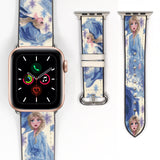 Disney Princess Elsa Frozen 2 Inspired 38 40 42 44 mm Soft Silicon Sport Strap Apple Watch Band -v886