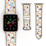 Disney Alice in the Wonderland Inspired 38 40 42 44 mm Soft Silicon Sport Strap Apple Watch Band -v892