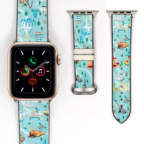 Disney Theme Park Mickey Mouse Inspired 38 40 42 44 mm Soft Silicon Sport Strap Apple Watch Band -v893