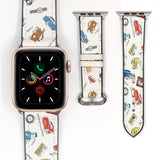 Disney Cars Lighting McQueen Inspired 38 40 42 44 mm Soft Silicon Sport Strap Apple Watch Band -v902