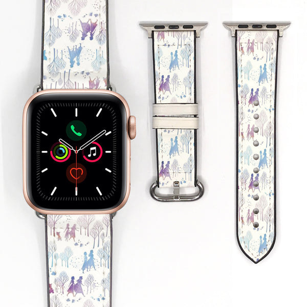 Disney Princess Elsa Frozen 2 Inspired 38 40 42 44 mm Soft Silicon Sport Strap Apple Watch Band -v904